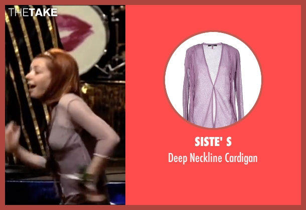 Siste' S purple cardigan from American Pie seen with Alyson Hannigan (Michelle Flaherty)