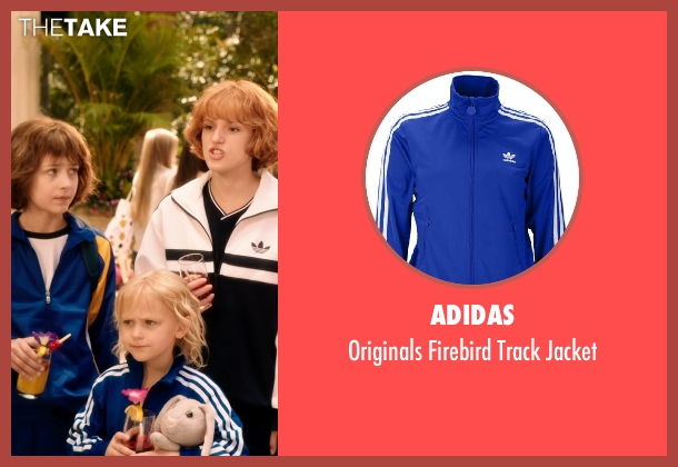 Adidas blue jacket from Blended seen with Alyvia Alyn Lind (Lou Friedman)