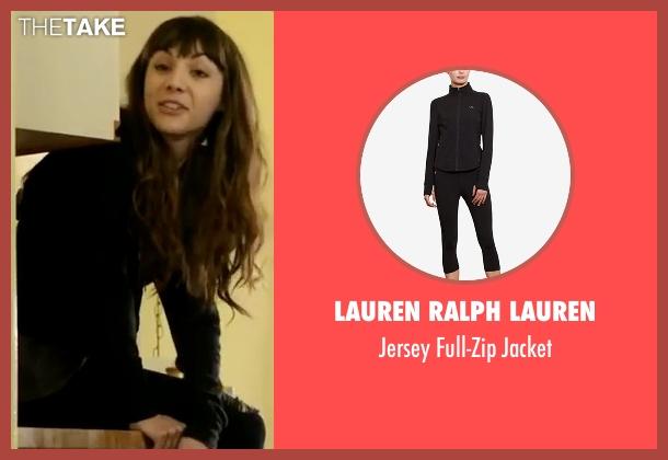 Lauren Ralph Lauren black jacket from Dirk Gently's Holistic Detective Agency seen with Amanda Brotzman (Hannah Marks)