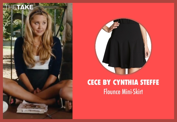 Cece By Cynthia Steffe black mini-skirt from Easy A seen with Amanda Bynes (Marianne)