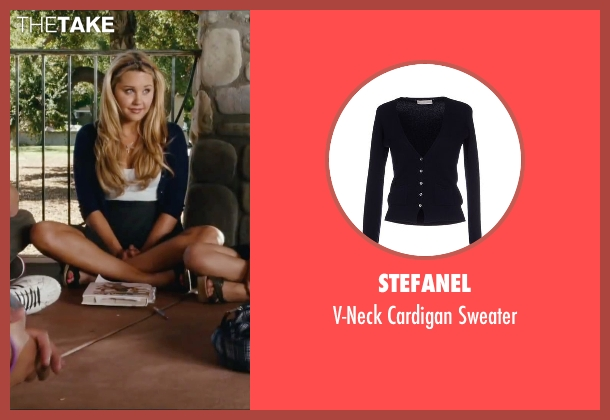 Stefanel blue sweater from Easy A seen with Amanda Bynes (Marianne)