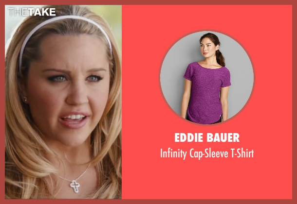 Eddie Bauer purple t-shirt from Easy A seen with Amanda Bynes (Marianne)
