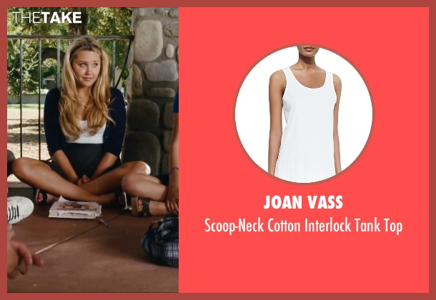 Joan Vass white top from Easy A seen with Amanda Bynes (Marianne)
