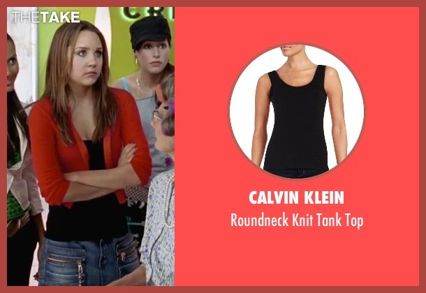 Calvin Klein  black top from She's The Man seen with Amanda Bynes (Viola)