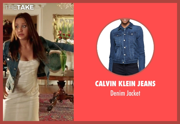 Calvin Klein Jeans blue jacket from She's The Man seen with Amanda Bynes (Viola)