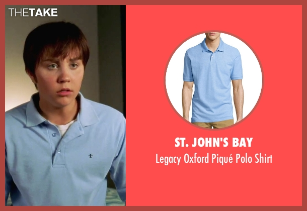 St. John's Bay blue shirt from She's The Man seen with Amanda Bynes (Viola)