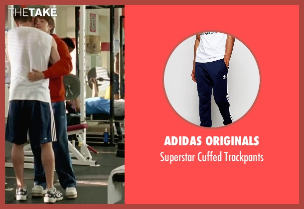 Adidas Originals blue trackpants from She's The Man seen with Amanda Bynes (Viola)
