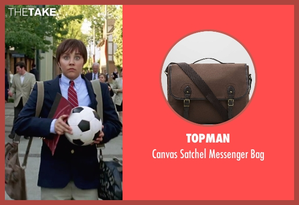 Topman brown bag from She's The Man seen with Amanda Bynes (Viola)