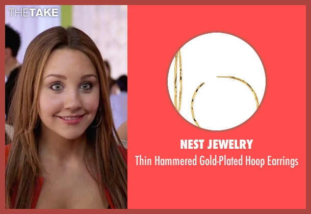 Nest Jewelry gold earrings from She's The Man seen with Amanda Bynes (Viola)