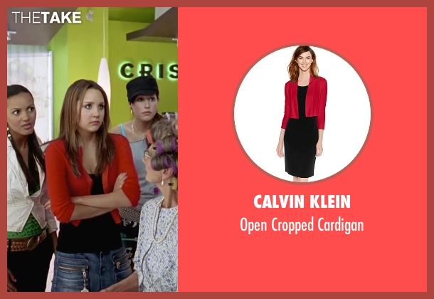 Calvin Klein  red cardigan from She's The Man seen with Amanda Bynes (Viola)