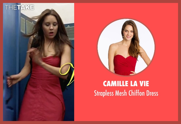 Camille La Vie red dress from She's The Man seen with Amanda Bynes (Viola)