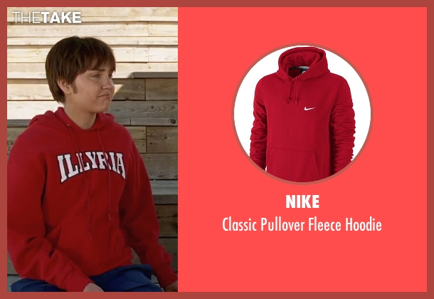 Nike red hoodie from She's The Man seen with Amanda Bynes (Viola)