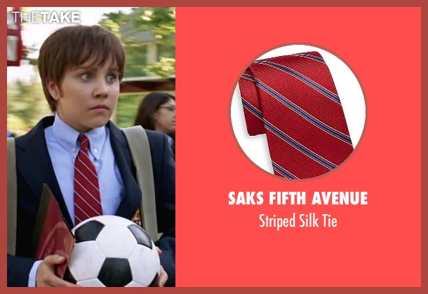 Saks Fifth Avenue red tie from She's The Man seen with Amanda Bynes (Viola)