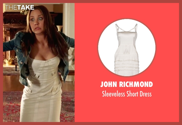 John Richmond white dress from She's The Man seen with Amanda Bynes (Viola)