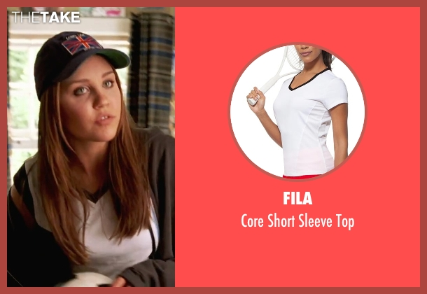 Fila white top from She's The Man seen with Amanda Bynes (Viola)