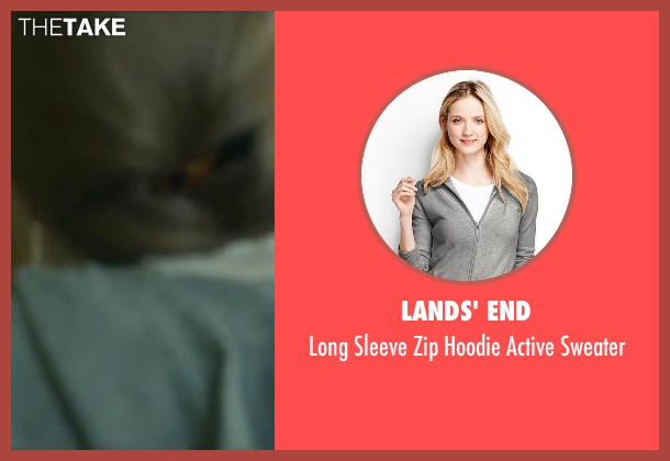 Lands' End gray sweater from Love the Coopers seen with Amanda Seyfried (Ruby)