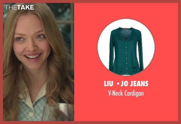 Liu •Jo Jeans green cardigan from Love the Coopers seen with Amanda Seyfried (Ruby)