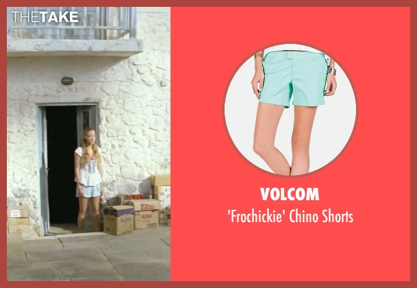 Volcom blue shorts from Mamma Mia! seen with Amanda Seyfried (Sophie)
