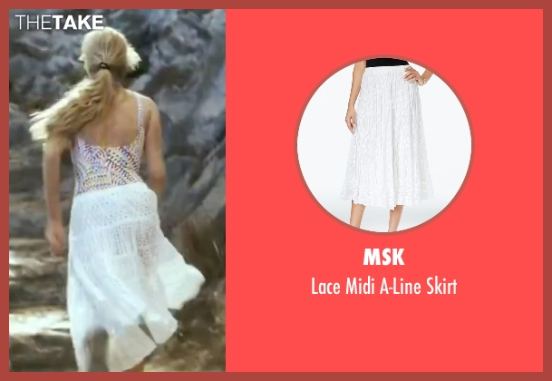 MSK white skirt from Mamma Mia! seen with Amanda Seyfried (Sophie)
