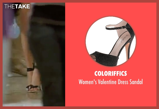 Coloriffics black sandal from Mean Girls seen with Amanda Seyfried (Karen Smith)