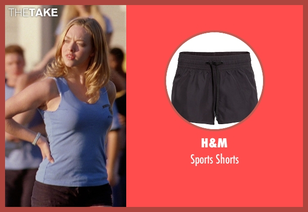 H&M black shorts from Mean Girls seen with Amanda Seyfried (Karen Smith)