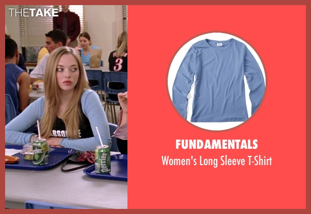 Fundamentals blue t-shirt from Mean Girls seen with Amanda Seyfried (Karen Smith)