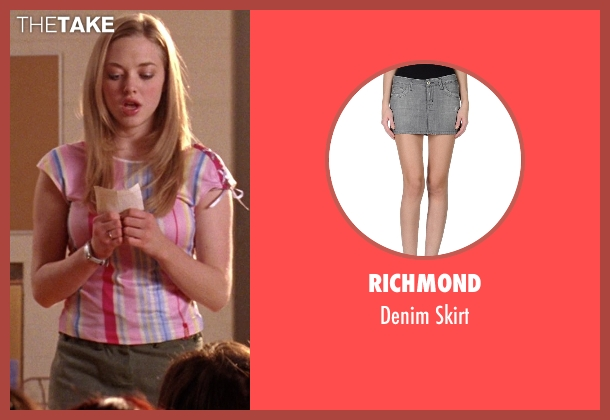 Richmond gray skirt from Mean Girls seen with Amanda Seyfried (Karen Smith)