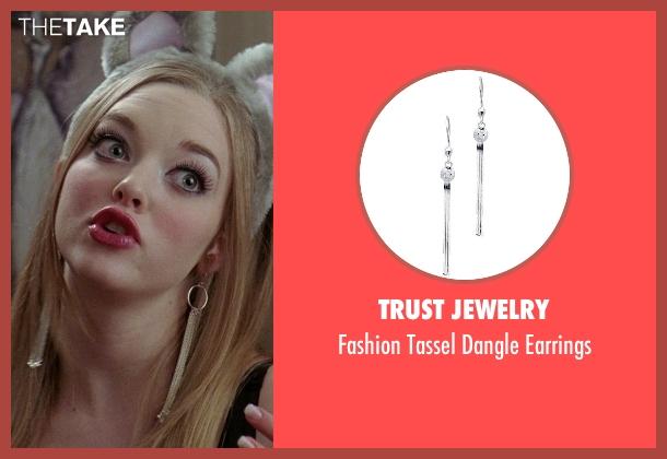 Trust Jewelry silver earrings from Mean Girls seen with Amanda Seyfried (Karen Smith)