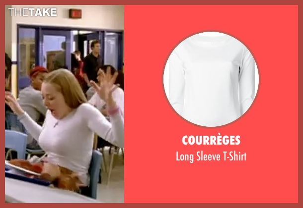 Courrèges white t-shirt from Mean Girls seen with Amanda Seyfried (Karen Smith)
