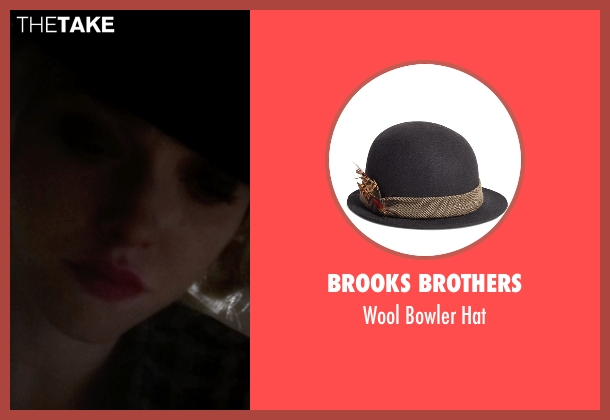 Brooks Brothers black hat from Pan seen with Amanda Seyfried (Mary)