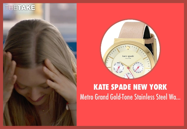 Kate Spade New York beige watch from Ted 2 seen with Amanda Seyfried (Samantha Jackson)