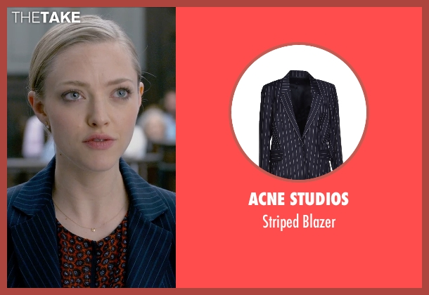 Acne Studios blue blazer from Ted 2 seen with Amanda Seyfried (Samantha Jackson)