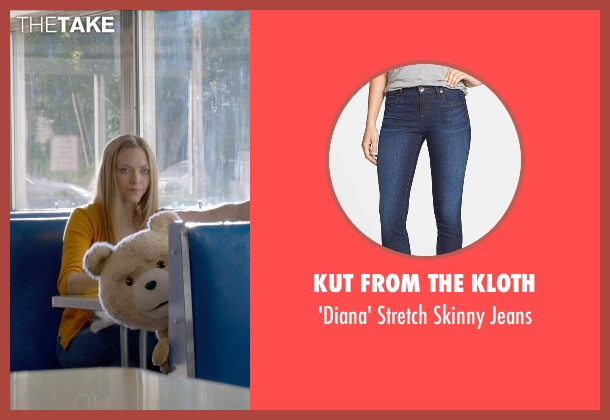 KUT from the Kloth blue jeans from Ted 2 seen with Amanda Seyfried (Samantha Jackson)