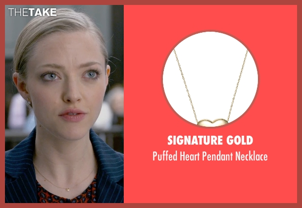 Signature Gold gold necklace from Ted 2 seen with Amanda Seyfried (Samantha Jackson)