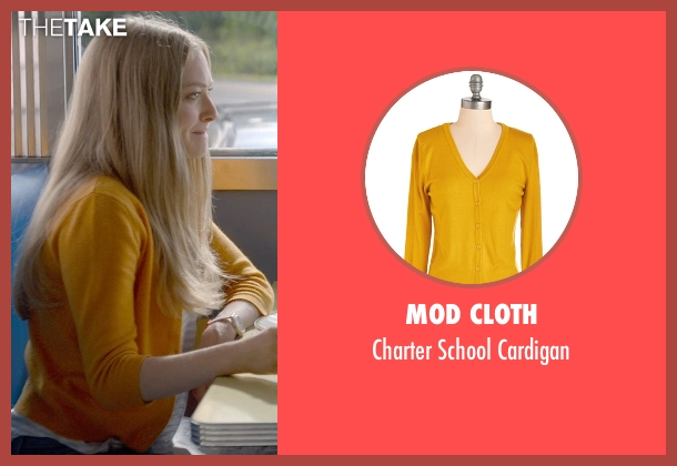 Mod Cloth orange cardigan from Ted 2 seen with Amanda Seyfried (Samantha Jackson)