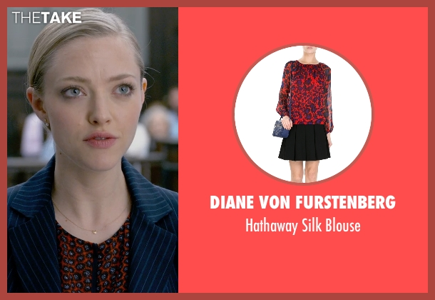 Diane Von Furstenberg red blouse from Ted 2 seen with Amanda Seyfried (Samantha Jackson)