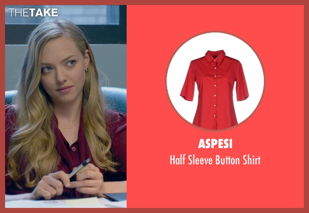 Aspesi red shirt from Ted 2 seen with Amanda Seyfried (Samantha Jackson)