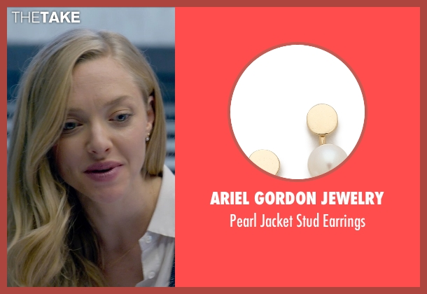 Ariel Gordon Jewelry white earrings from Ted 2 seen with Amanda Seyfried (Samantha Jackson)