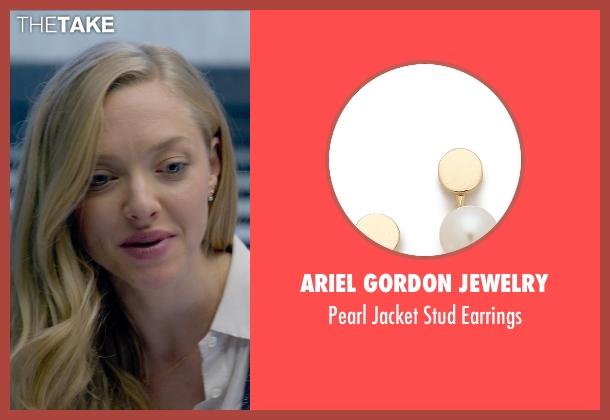 Ariel Gordon Jewelry white earrings from Ted 2 seen with Amanda Seyfried (Samantha Jackson)