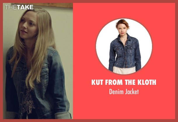 Kut from the Kloth blue jacket from While We're Young seen with Amanda Seyfried (Darby)