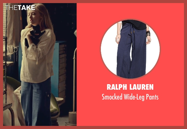 Ralph Lauren blue pants from While We're Young seen with Amanda Seyfried (Darby)