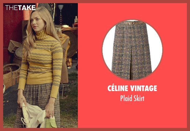 Céline Vintage brown skirt from While We're Young seen with Amanda Seyfried (Darby)