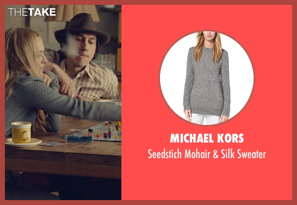 Michael Kors gray sweater from While We're Young seen with Amanda Seyfried (Darby)