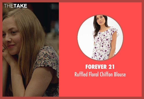 Forever 21 white blouse from While We're Young seen with Amanda Seyfried (Darby)