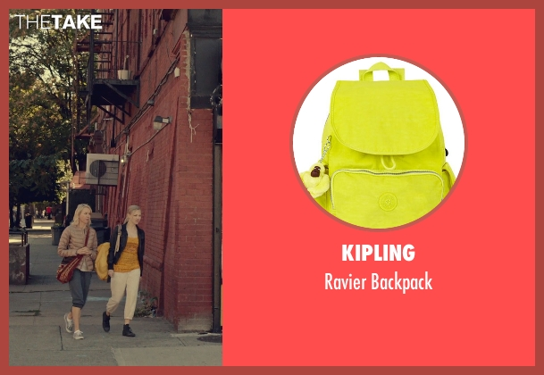 Kipling yellow backpack from While We're Young seen with Amanda Seyfried (Darby)