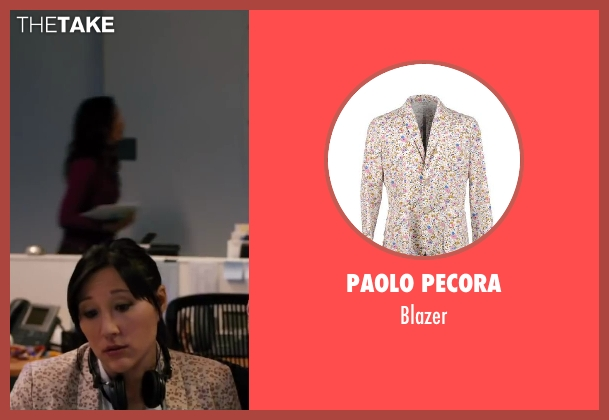 PAOLO PECORA white blazer from Walk of Shame seen with Amanda Young (Julie)