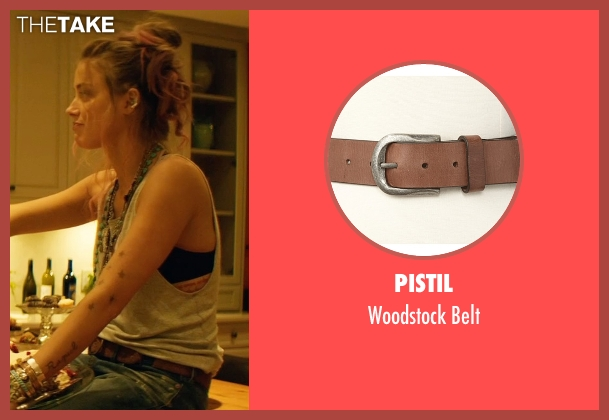 Pistil brown belt from Magic Mike XXL seen with Amber Heard (Unknown Character)