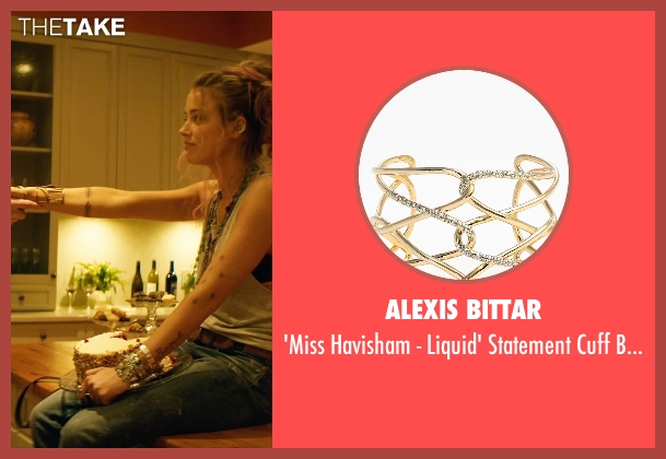 Alexis Bittar gold bracelet from Magic Mike XXL seen with Amber Heard (Unknown Character)