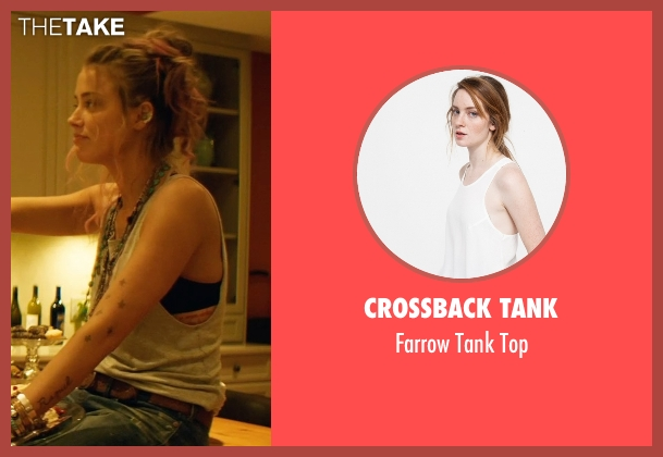 Crossback Tank white top from Magic Mike XXL seen with Amber Heard (Unknown Character)