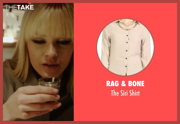 Rag & Bone beige shirt from Vice seen with Ambyr Childers (Kelly)